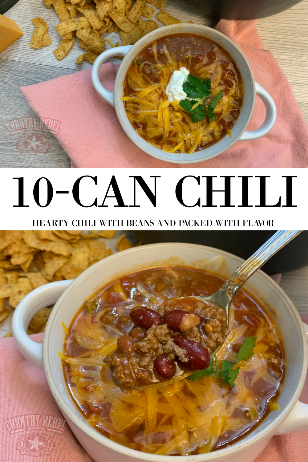 Simple 10-Can Chili Recipe With Beans