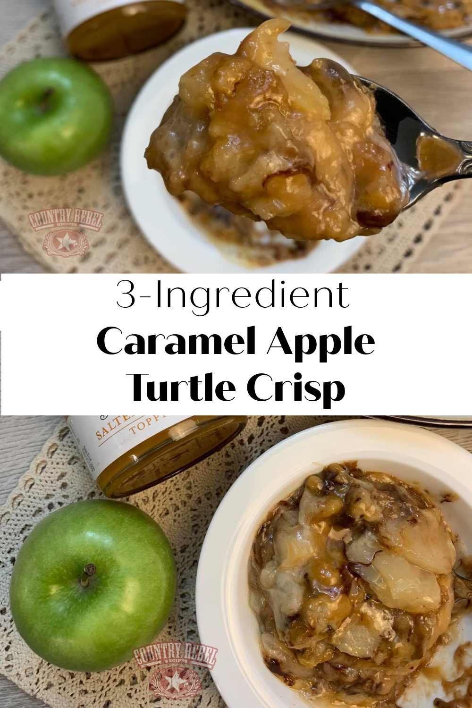 3-Ingredient Caramel Apple Turtle Crisp - Last-Minute Dessert
