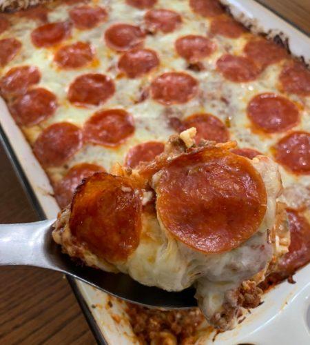 3-Cheese Pepperoni Pizza Lasagna Casserole
